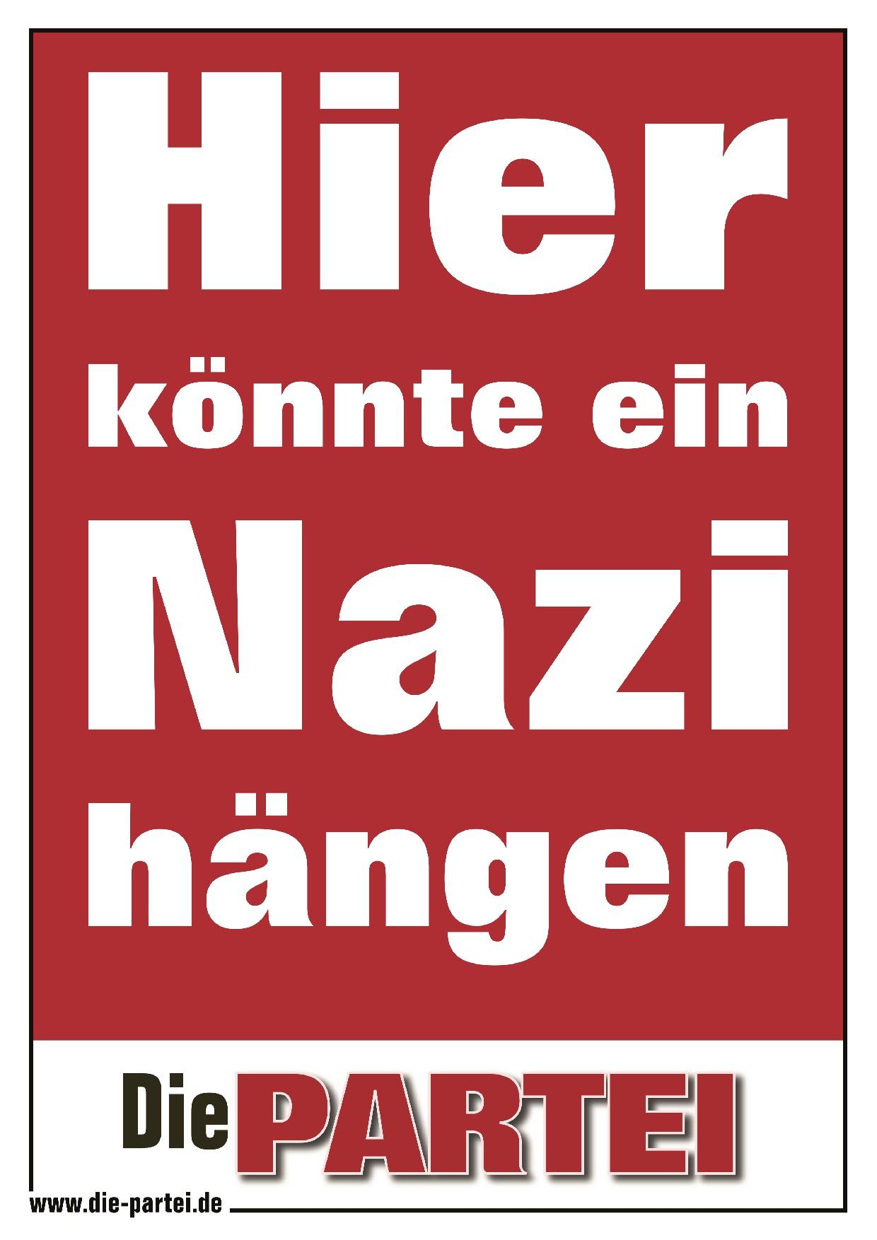 Hier könnte ein Nazi hängen