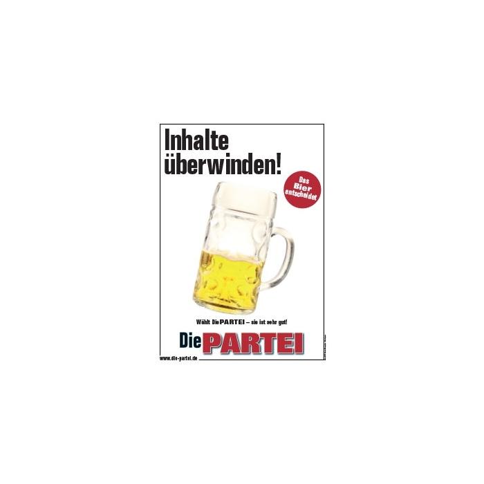 Inhalte überwinden - Das Bier entscheidet