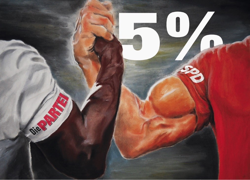 5% - Armdrücken Postkarte