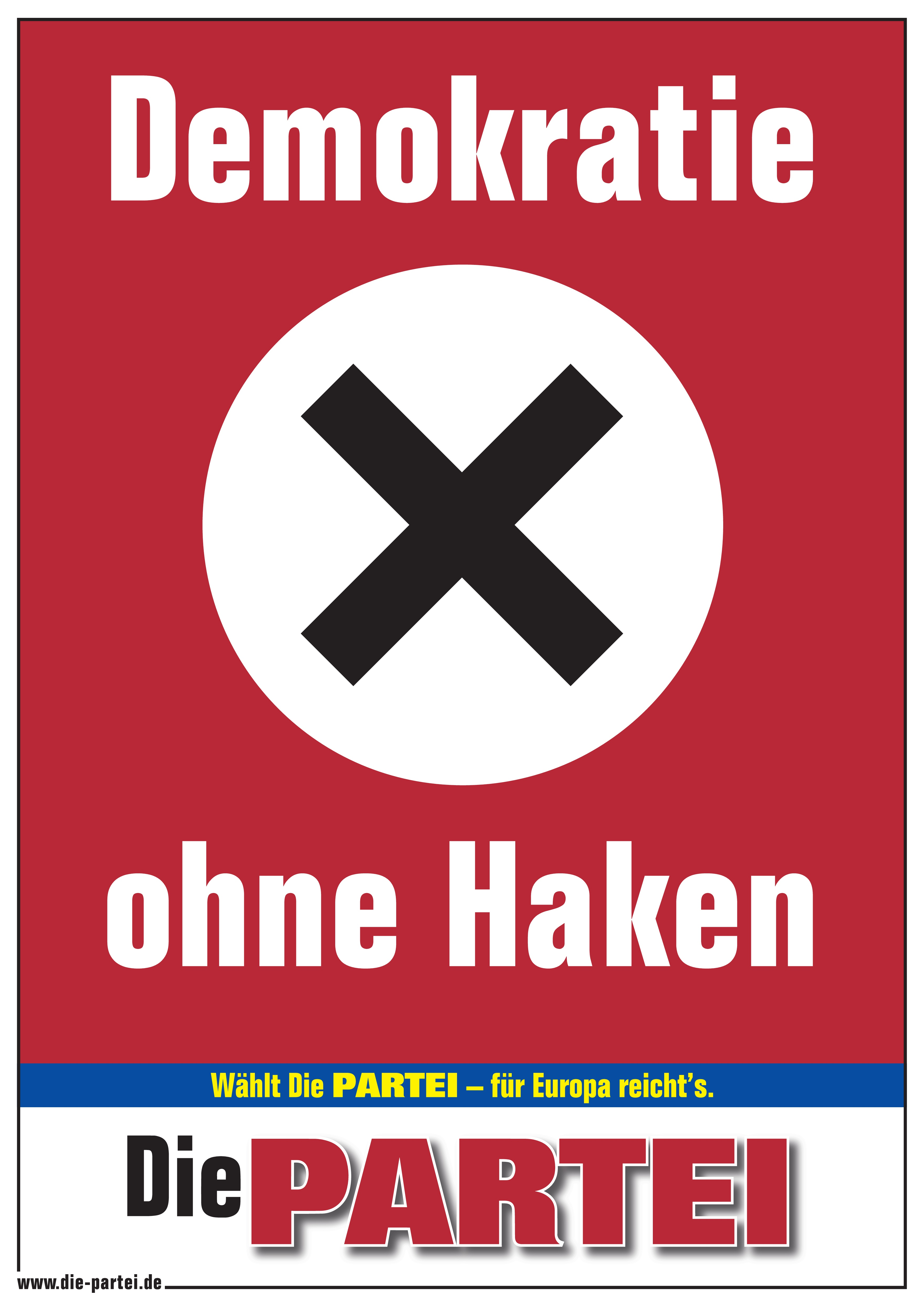 Poster A1 Demokratie ohne Haken