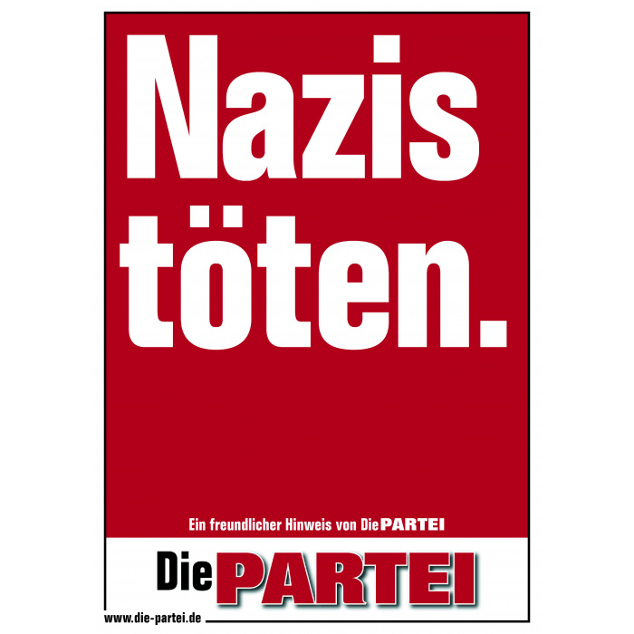 """Poster """"Nazis töten."""""""