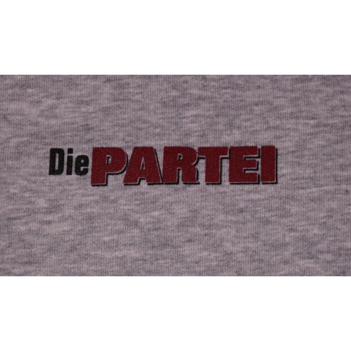 "Pullover ""Die PARTEI"" grau"